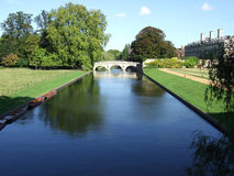 Bridge. Over the river Cam in Cam, England royalty free stock photography