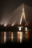 Bridge. On vistula in Warsaw Stock Image