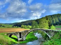 Bridge. Old Roman bridge in mountain Rhodopi Stock Image