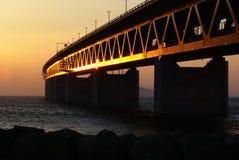 Bridge. The bridge between Malmo and Copenhagen Stock Photos