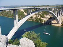 The bridge. In Croatia Royalty Free Stock Photos