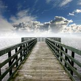 Jetty. Its a wooden jetty at a lake Royalty Free Stock Photo