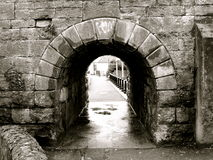 Bridge. The archway of a bridge in Ireland royalty free stock images