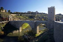 Bridge. Old bridge in toledo Stock Photography