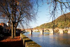 Bridge. In heidelberg (germany Royalty Free Stock Photo