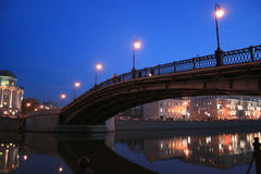 Bridge. The bridge at the centre of Moscow Royalty Free Stock Image