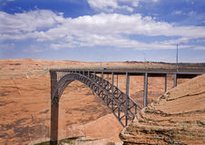 Bridge. Glen Canyon Dam bridge, Arizona Royalty Free Stock Photography