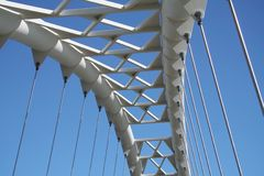 Bridge. Pedestrian bridge Royalty Free Stock Images