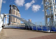 The Bridge. Salford Quays stock photography