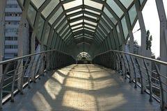 Bridge. Steel bridge. Belgorod city, Russia Stock Photos