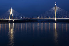 Bridge. New Megyeri Bridge in Hungary Royalty Free Stock Images