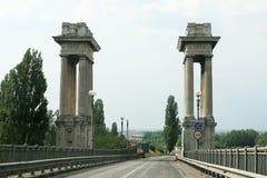 Bridge. The border bridge between Romania and Bulgaria stock images