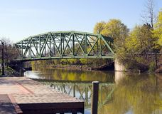 Bridge. Over the Erie Canal Stock Image