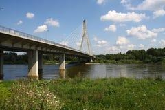 Bridge. Modern bridge in Warsaw, Poland Stock Photo