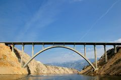 Bridge. Over river, croatia Stock Photography