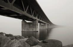 Bridge. Bride between Malmo and Copenhagen Stock Photos