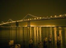 Bridge. Night view of a bridge in San Fransisco Stock Image