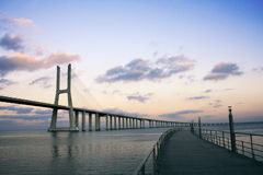 Bridge. Vasco da gama bridge, portugal Royalty Free Stock Image