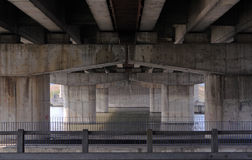 Bridge. View from under the highway royalty free stock photos