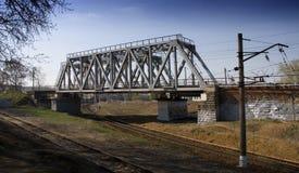 Bridge. The railway bridge on suburban of city Royalty Free Stock Photos