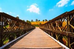 Bridge. The Old Bridge Passing Through Jordan River in North Galilee, Israel Stock Photo