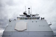 Bridge aboard naval vessel Royalty Free Stock Photos
