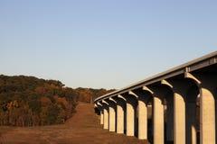 Bridge above Cuyahoga River Royalty Free Stock Images