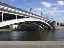 Bridge above Moscow River Stock Photography