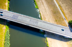 Bridge above the river Royalty Free Stock Photo