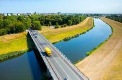 Bridge above the river Stock Photos