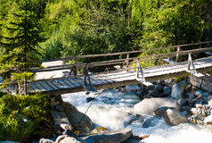 Bridge above a torrent Stock Photos