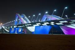Bridge in Abu Dhabi. Salam bridge at night in Abu Dhabi , United Arab Emirates Royalty Free Stock Photography