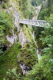 Bridge accross the Leutasch gorge Stock Photos