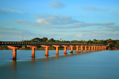 "Bridge across. The ""Moon River"" Ubonratchatani   province  Thailand Stock Images"