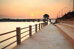 "Bridge across. The ""Moon River"" Ubonratchatani   province  Thailand Royalty Free Stock Photography"