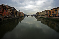 A bridge across the Arno river in Florence Stock Photo