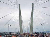 The bridge across the bay Golden Horn. Royalty Free Stock Image