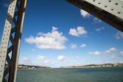 Bridge across the camel trail near padstow Stock Photos