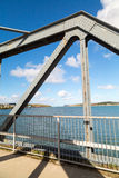 Bridge across the camel trail near padstow Stock Photography