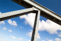 Bridge across the camel trail near padstow Royalty Free Stock Photography