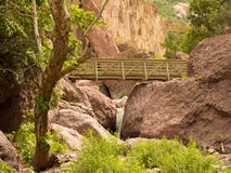 A bridge across a canyon in new mexico Royalty Free Stock Photo