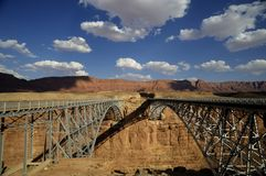 Bridge across the Colorado River in the South West royalty free stock photos