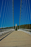 The bridge across the creek. Stock Photo