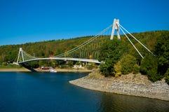 The bridge across the creek. Royalty Free Stock Photos