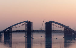 Bridge across the Dnieper Royalty Free Stock Image