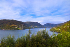 Bridge across fjord - Norway Royalty Free Stock Image