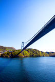 Bridge across fjord in Norway Royalty Free Stock Photography