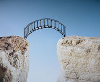 Bridge across gap Royalty Free Stock Photography