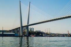 The bridge across the Golden Horn in Vladivostok Stock Images