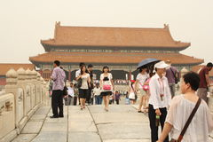 Bridge across Golden Water Canal in Forbidden City Royalty Free Stock Photo